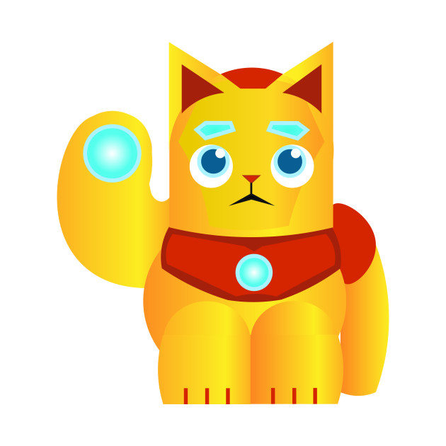 Good Luck Iron Cat