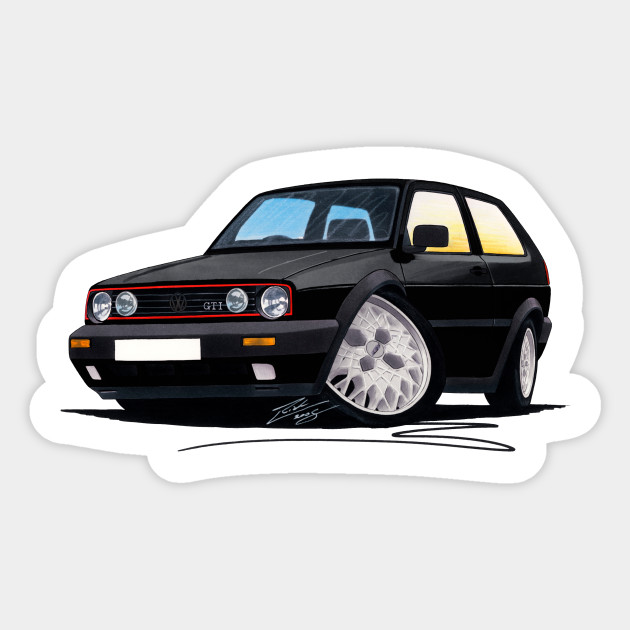 Vw Golf Mk2 Gti Black