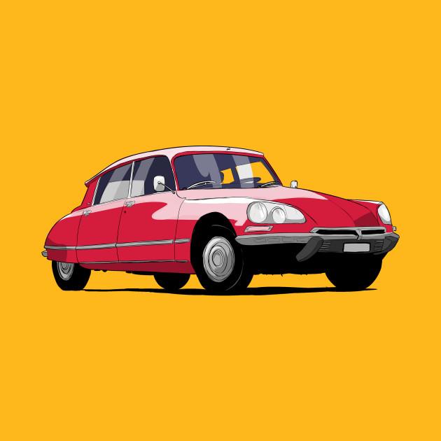 French Car Citroen DS Classic Car - Citroen - T-Shirt   TeePublic