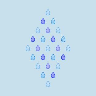 Blue raindrops