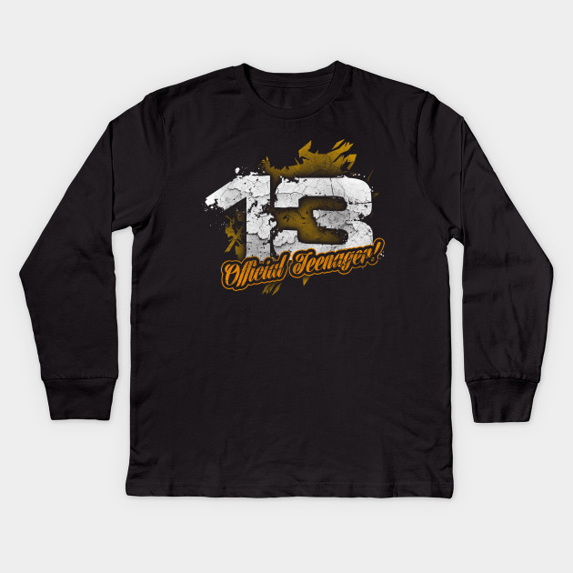 Official Teenager 13 Year Old 13th Birthday Party Kids Long Sleeve T Shirt