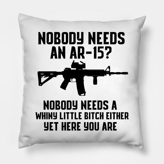 Nobody Needs A Whiny Little Bitch Funny ShirtUSA AR15 Gun Zip Hoodie