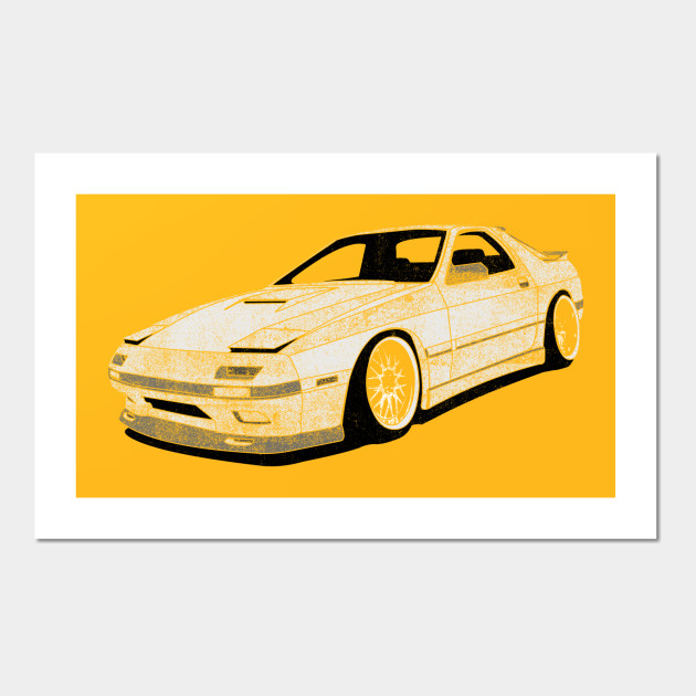 RX7 - Cars - Wall Art | TeePublic