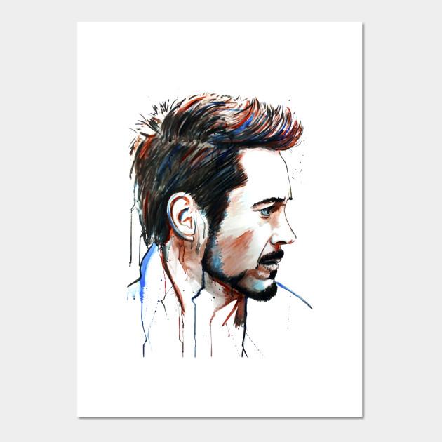 Art print POSTER Jr. CANVAS Robert Downey