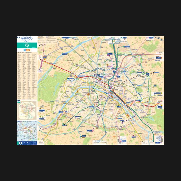 Paris Subway Map With Streets France Paris Subway Map France - Paris transit map