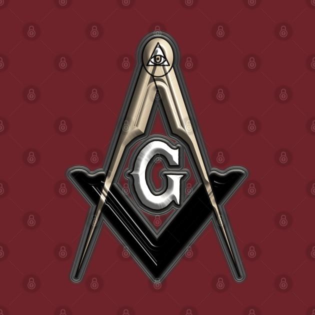 Freemason Compass Metal White Sharp