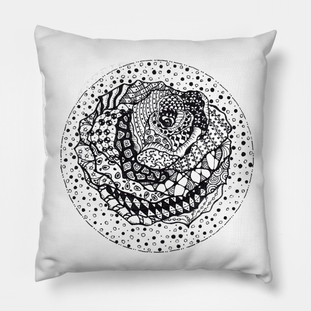 Rose Zentangle Zentangle Pillow Teepublic