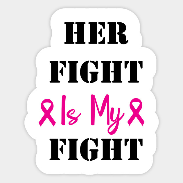 Fight Breast Cancer Awareness Pink Ribbon Breast Cancer Awareness Sticker Teepublic