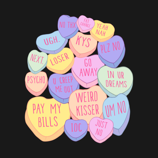 Mean Anti Valentines Day Candy Conversation Hearts Mean Anti Valentines Day  Candy Conversation Hearts