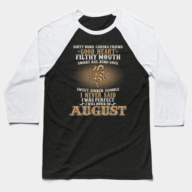 Funny August Shirts For Men Leo Birthday Best Gift Baseball T Shirt