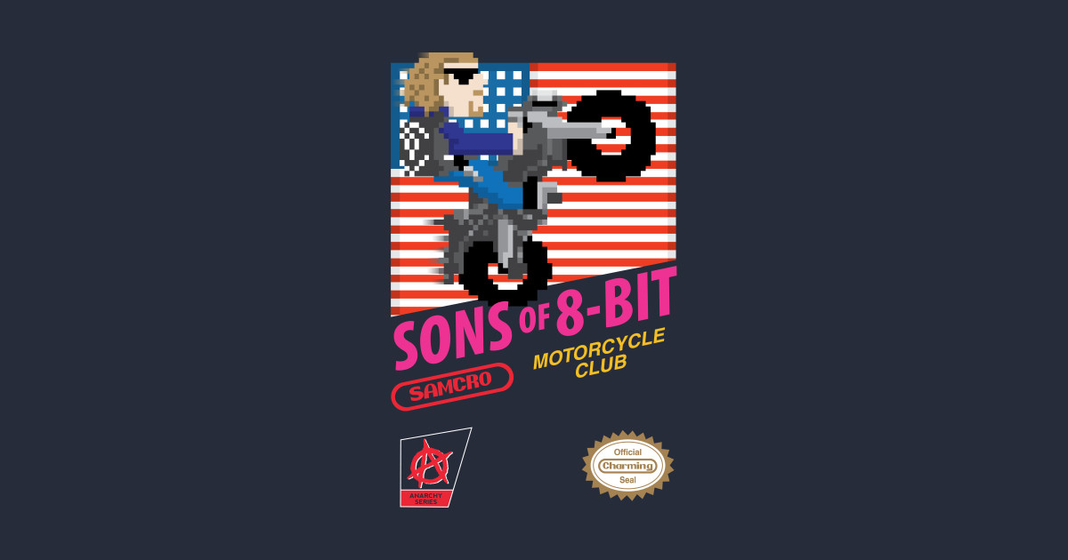 e576eac8 Sons of 8 Bit - Sons Of Anarchy - Kids Long Sleeve T-Shirt | TeePublic