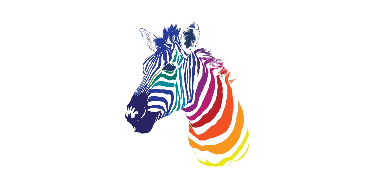 Открытка зебра разноцветная, таксисты