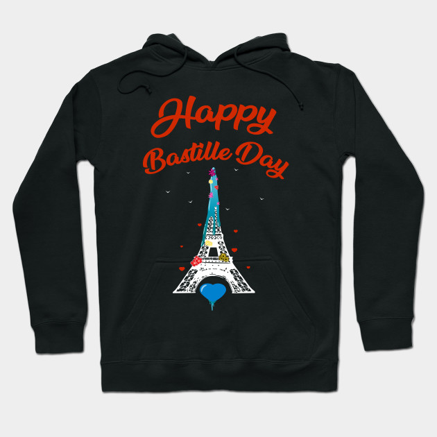 Happy Bastille Day shirt, French National Day Paris Gift T-Shirt Hoodie