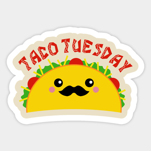 1106385 Taco Tuesday on Notebook Border