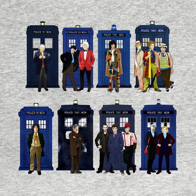 The 14 Doctors and Tardises