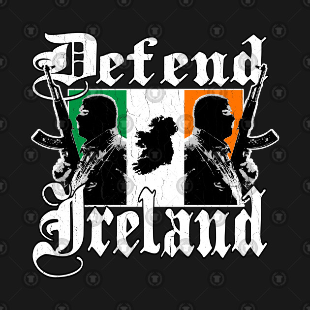 Defend Ireland (vintage distressed look)