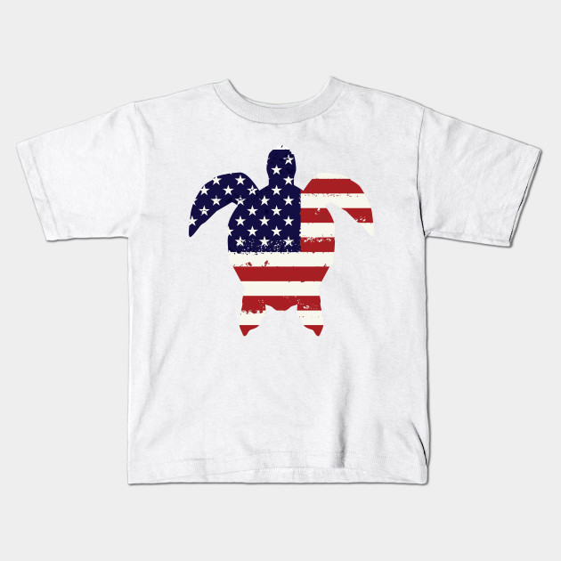 806e8cc4 Turtle Funny 4th Of July For Kids Women Men - 4th Of July - Kids T ...