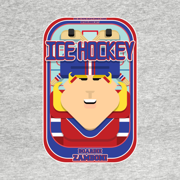 Ice Hockey Red and Blue - Faceov Puckslapper - Hazel version