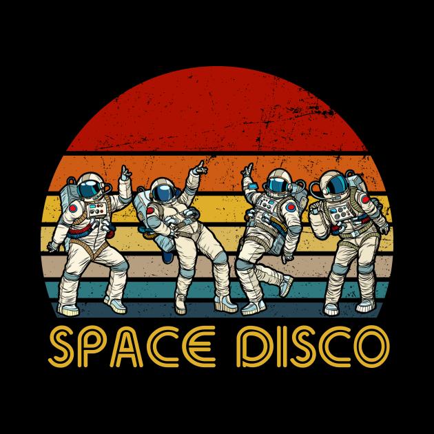 Space Disco Vintage Astronaut Disco Funny