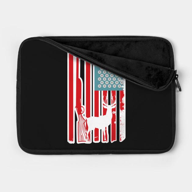 Hunting Flag USA Design Art Gift for Hunters