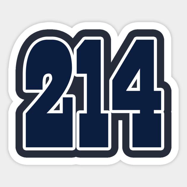 ae945c6d8e4 Dallas LYFE the 214!!! - Dallas Cowboys - Sticker | TeePublic