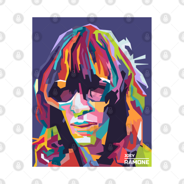 Abstract Joey Ramone in WPAP