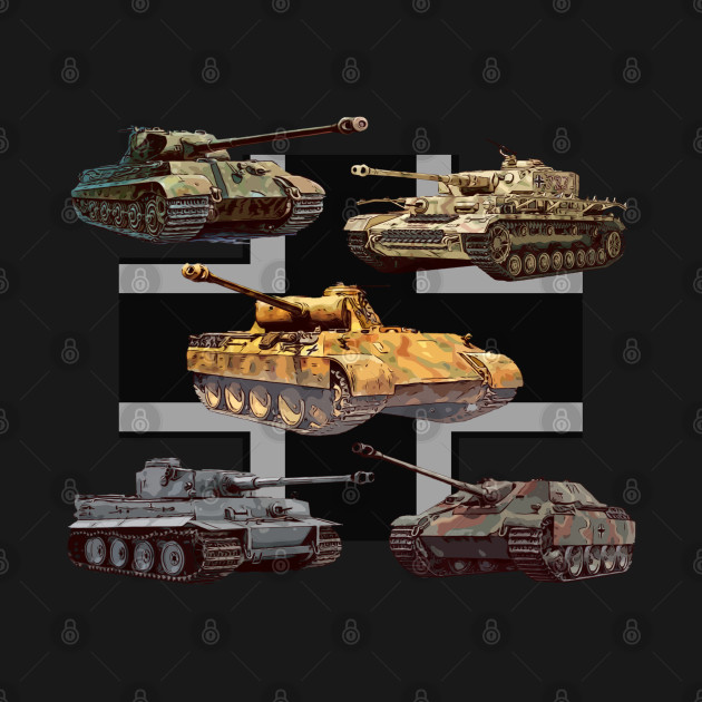German Tanks WW2 V Panther Jagdpanther Tiger 1 Tiger 2