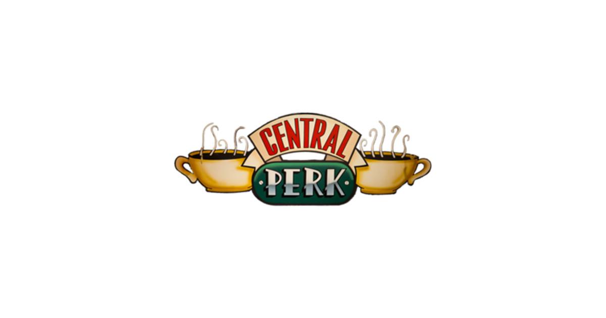 Friends Central Perk Logo - Coffee - Pegatina   TeePublic MX