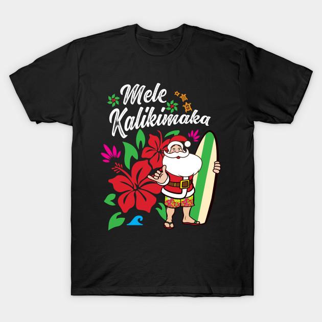 Christmas Hawaiian Shirt.Mele Kalikimaka Cute Christmas Hawaiian