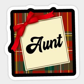aunt christmas gift stickers teepublic