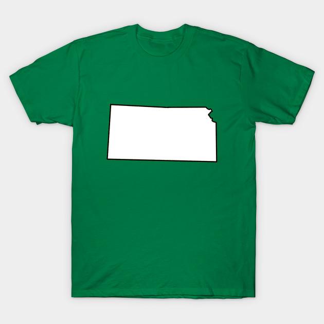 kansas blank outline kansas t shirt teepublic