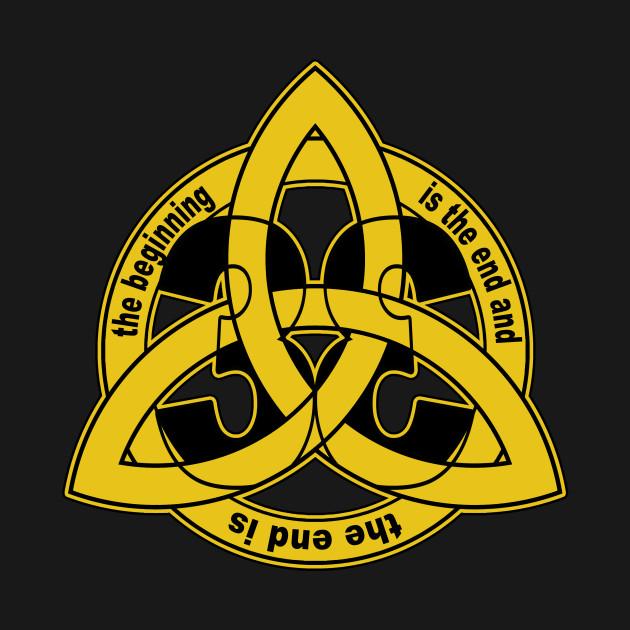 Triquetra Trinity Knot Dark Time Travel Symbol Dark Kids T