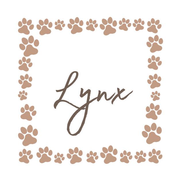 Pet name tag - Lynx