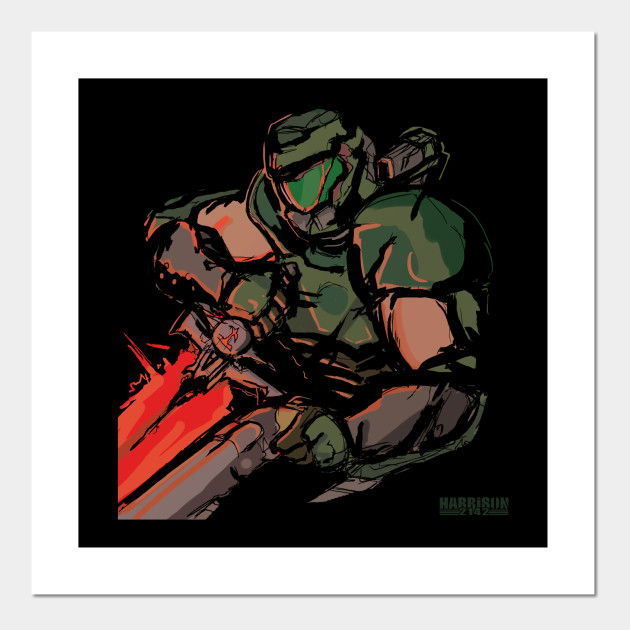 The Doom Slayer Doom Eternal Posters And Art Prints Teepublic