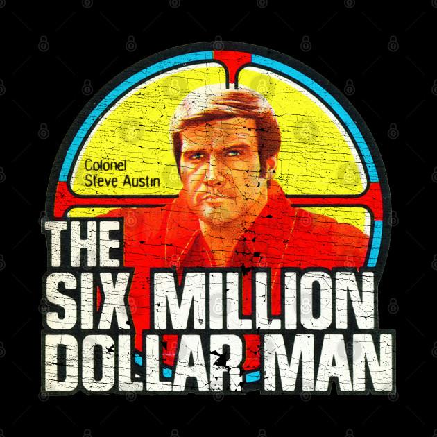 THE SIX MILLION DOLLAR MAN Vintage Iron On (Distressed)