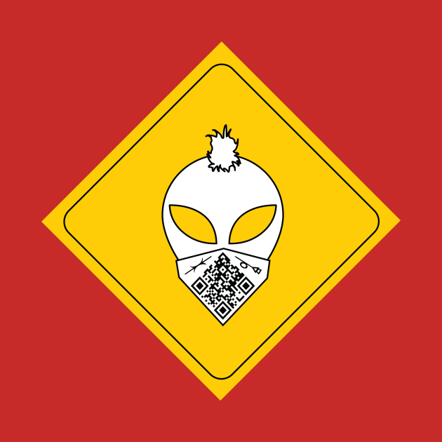 Mohawk Alien Road Sign