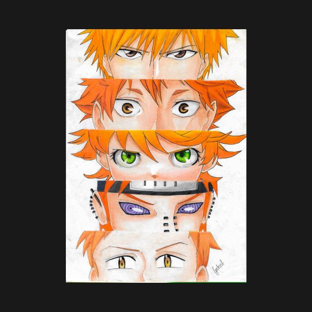 orange haired anime characters