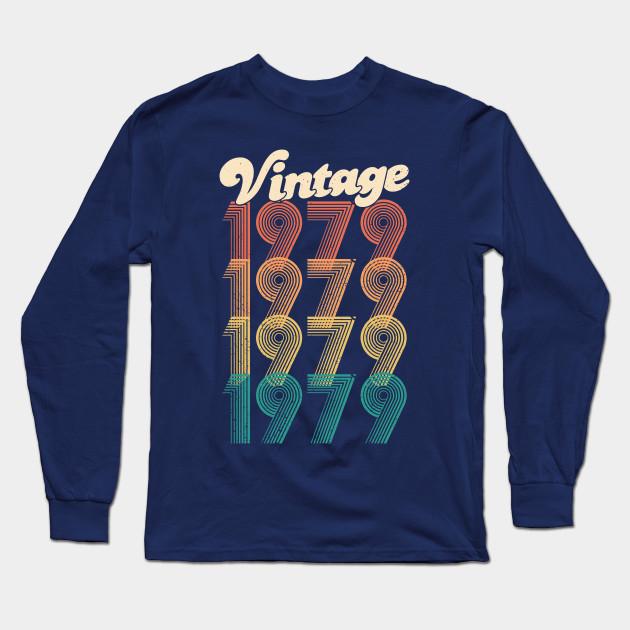 91f7b115c 40th Birthday Gift - Vintage 1979 T-Shirt Classic Women Men Long Sleeve T- Shirt