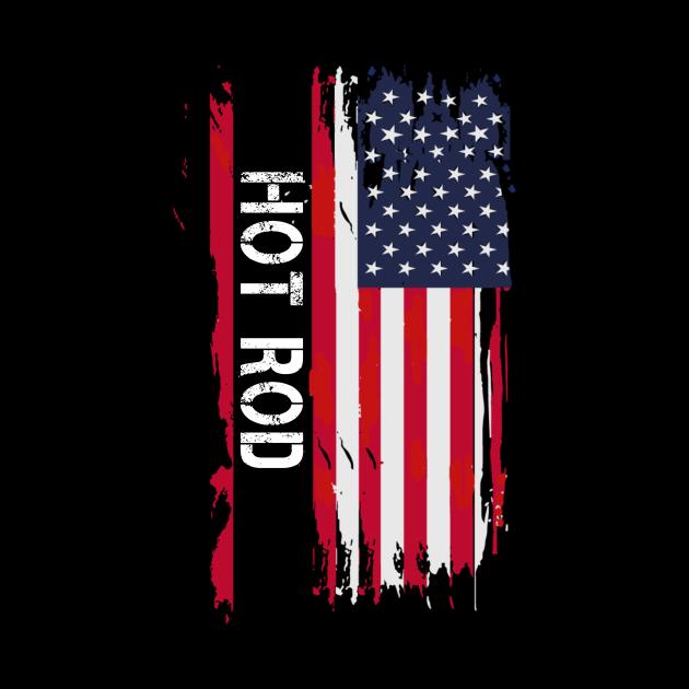 Hot Rod Patriotic USA Flag