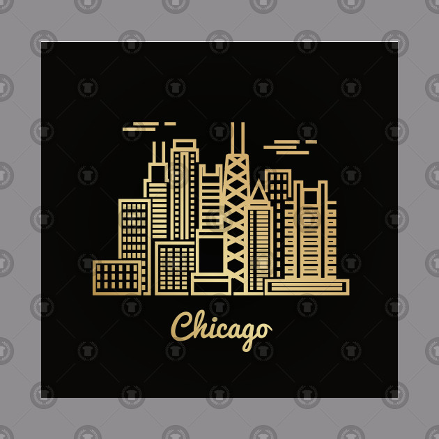 Chicago City Golden Architecture