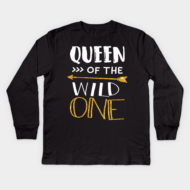 c1f67236fcee Queen of a Wild One Shirt 1st Birthday Party Family Tee Kids Long Sleeve T- Shirt