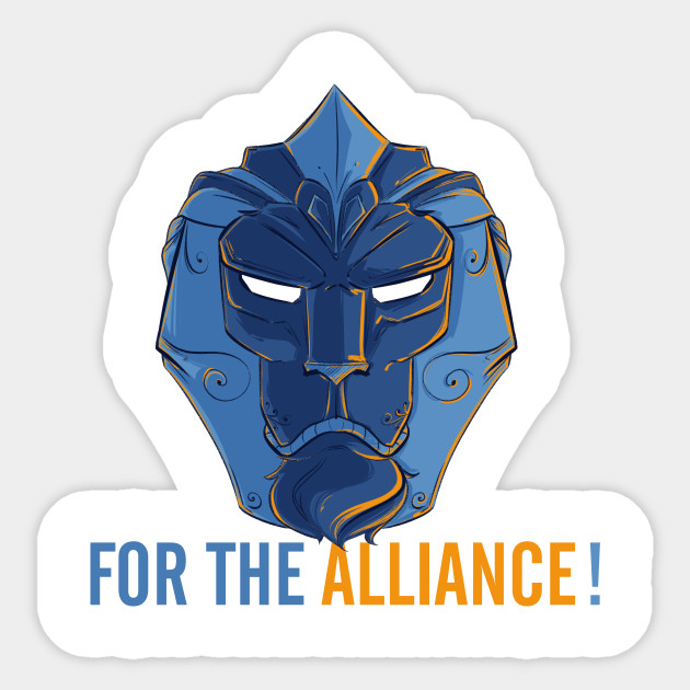 For The Alliance Warcraft Symbol For The Alliance Sticker