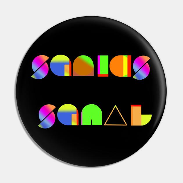 squid squad logo splatoon pin teepublic teepublic