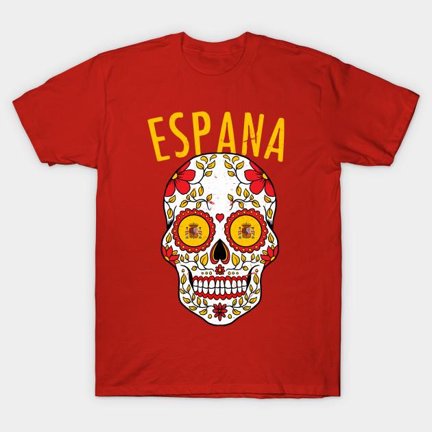 the best attitude 1ea74 cf49a Calavera Spain World Cup Team Flag Soccer Jersey Espana 2018