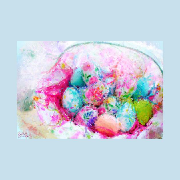 Easter Egg Basket Impressionist Painting