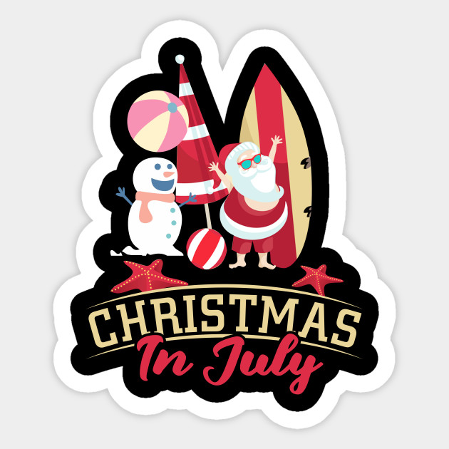Merry Christmas In July Clipart.Merry Christmas In July Shirt Decoration Party Supplies