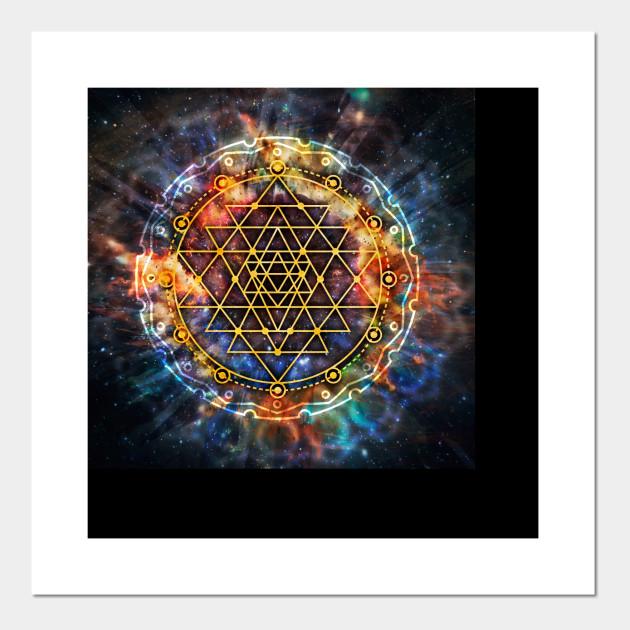 Colorful Sri Yantra Mandala