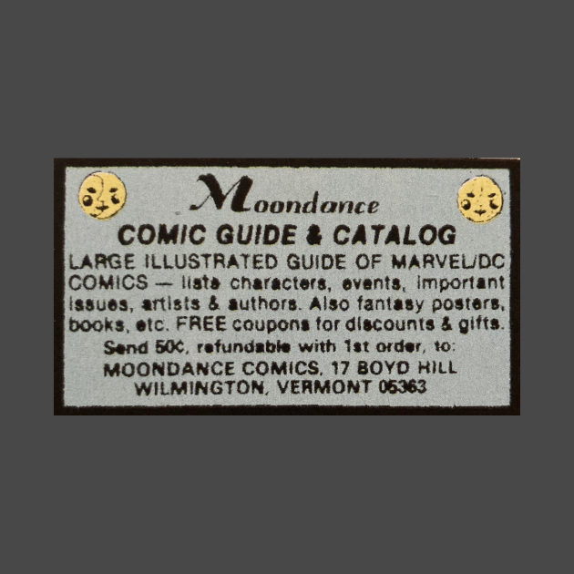 Moondance Comics - Classic Comic Book Advertisement