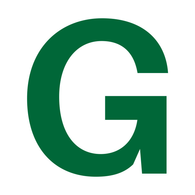 limited edition  exclusive green letter g - green letter g