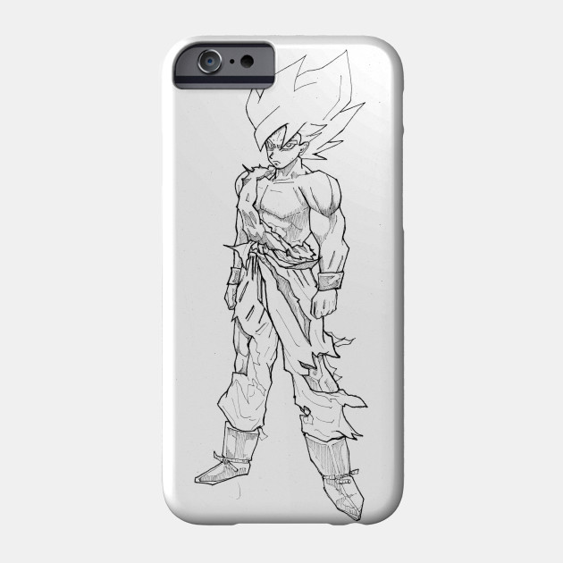 Dragon Ball Z Son Goku The Saiyan Line iphone case